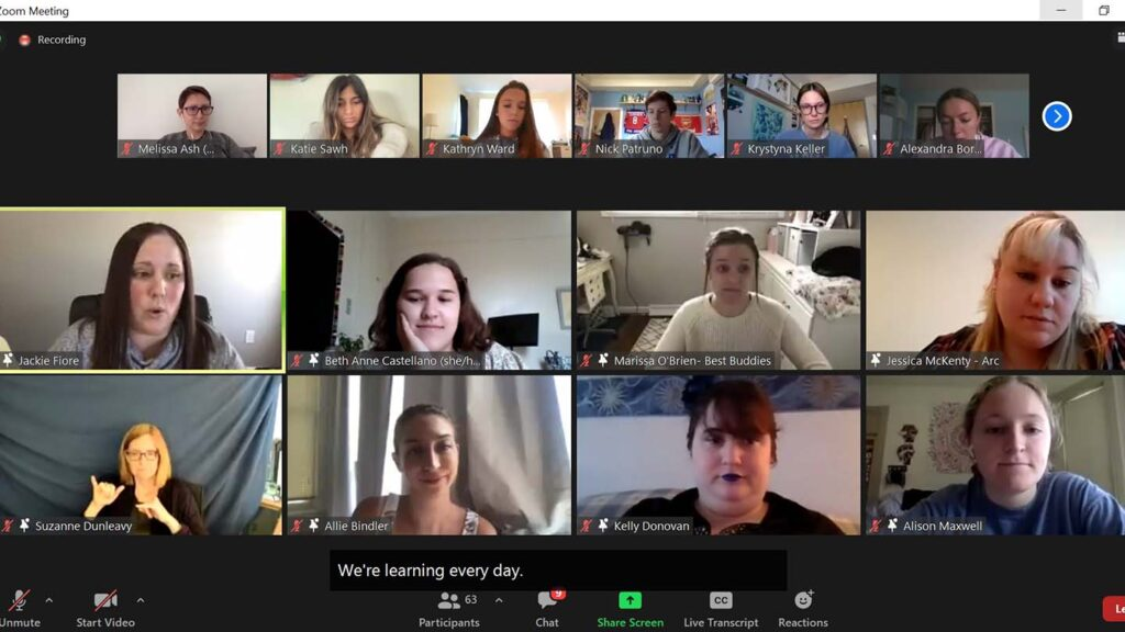 Disabilities Awareness Week panelists on Zoom
