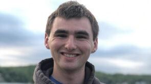 Michael O'Connor smiles