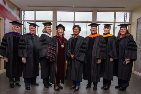 Alison Byerly with Commencement dignitaries 2021
