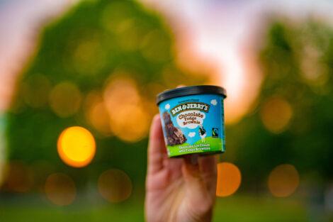 A pint of Ben & Jerry's ice cream.