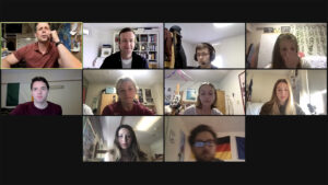 Dave Sunderlin's class engages with Robert Macfarlane over Zoom