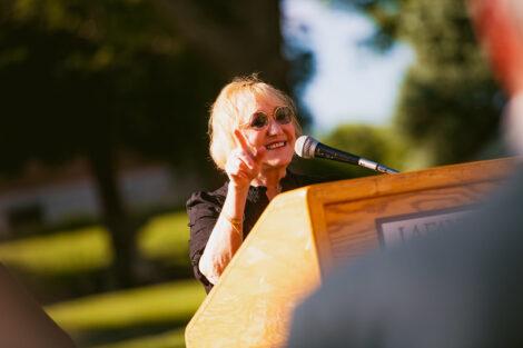 Pat Donahue during Plaza Dedication