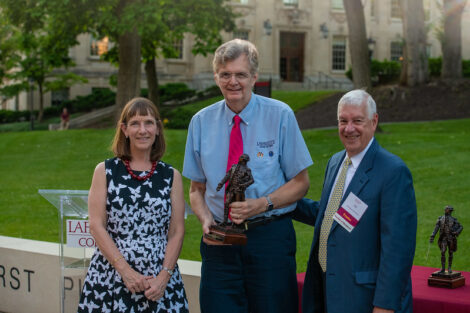 John C. Becica with Alison Byerly and Ed Ahart