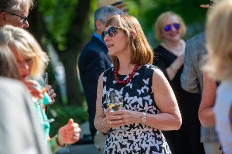 President Byerly at Donahue Garst Plaza Dedication