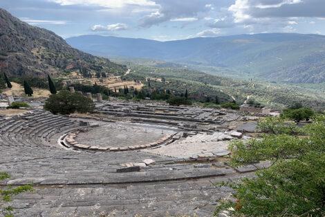 Delphi Theater in Greece, Study Abroad 2021