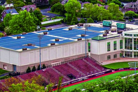 rendering of Solar Panels on Kirby Sports Center
