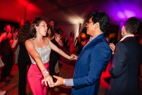 Students dance at Last Night celebration.
