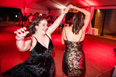 Students dance at Last Night celebration