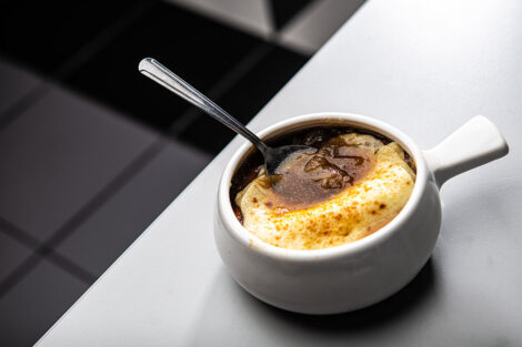 Trolley Stop's French onion soup