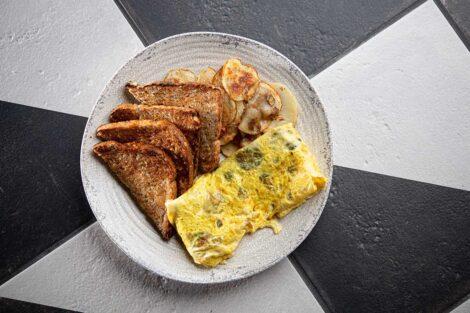 Trolley Stop's omelette