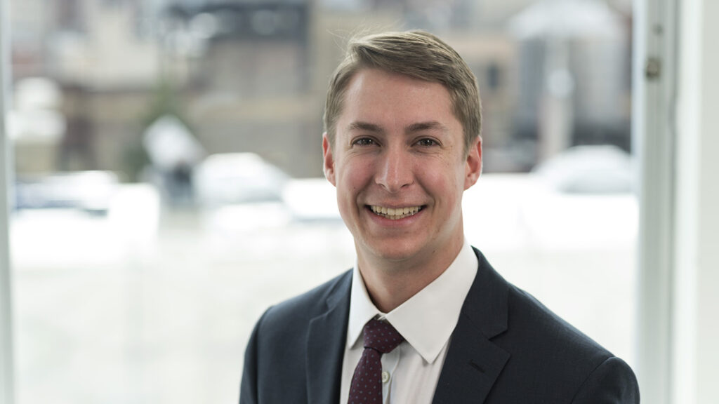 Jack Kleinert '18, client services manager at FactSet,