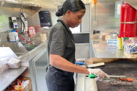 Lynette Shorter at the Lafayette food truck