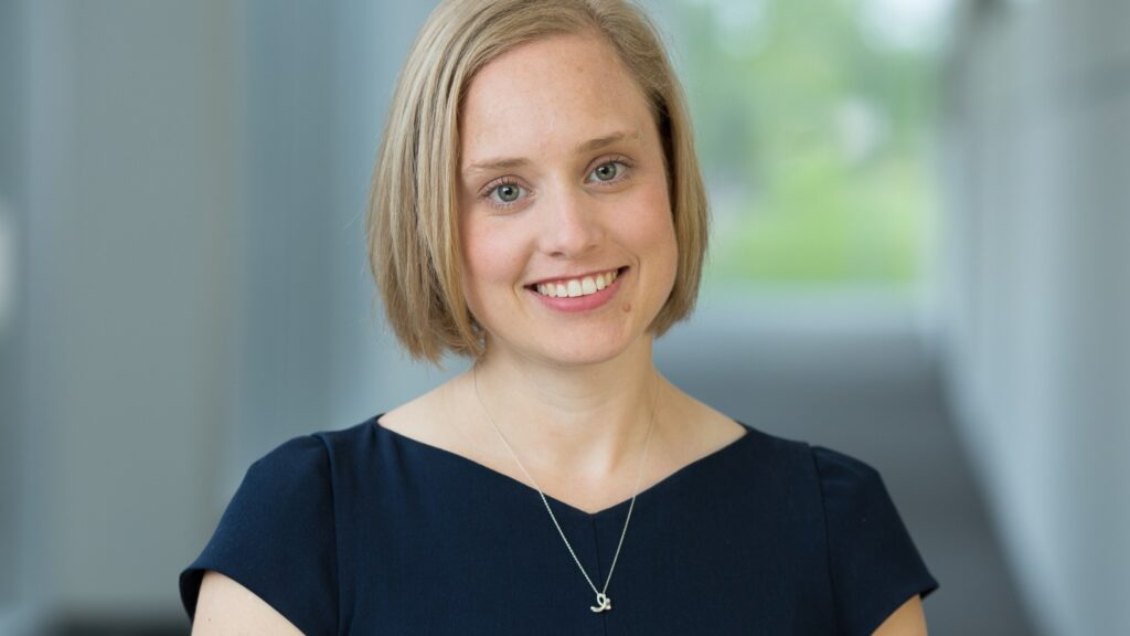 Emily Fogelberg Anthony '05 is senior director for Global Market Development in the Structural Heart business at Medtronic