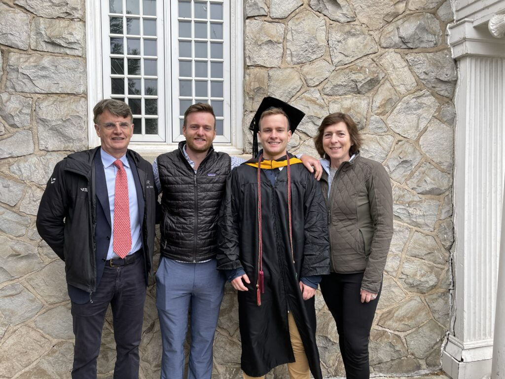 The O'Neill family pictured at 2021 commencement