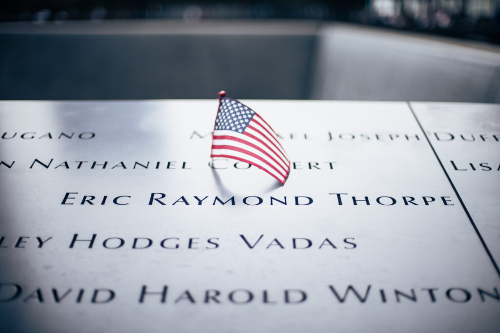 """Eric """"Rick"""" Thorpe's life honored among the fallen at the 9/11 Memorial in lower Manhattan"""