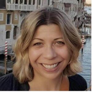 Rachel Goshgarian smiles
