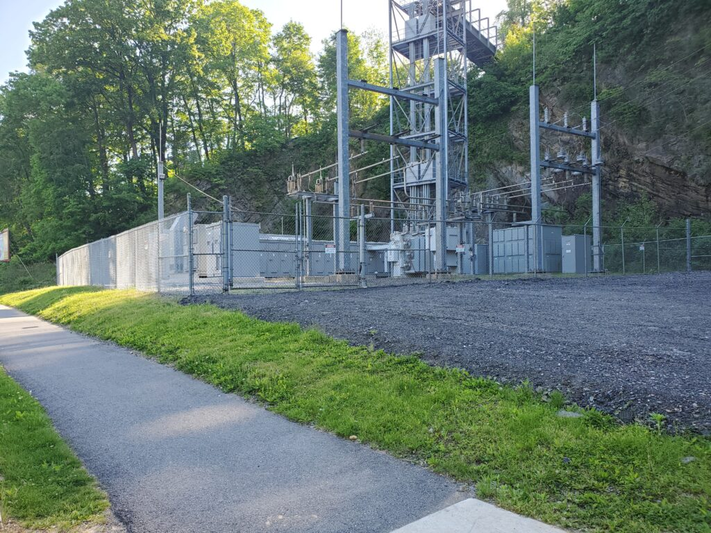 Lafayette's generator/electrical substation on Bushkill Drive was among the many power systems cited by the U.S. Green Building Council.