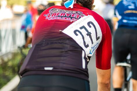 Lafayette students joined hundreds of cyclists in first-ever Easton Twilight Criterium Bike Race