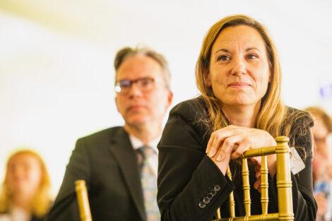 Professor Lisa Gabel and John O'Keefe