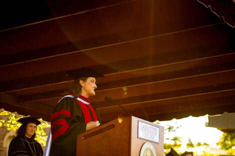 Rev. Alexandra Hendrickson, director of religious and spiritual life and College chaplain began the ceremony