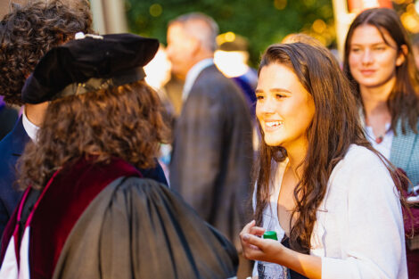 Hurd's daughter Monica smiles at her mom