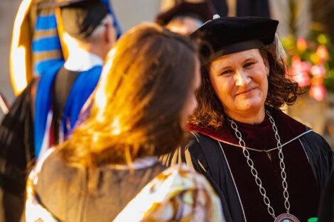 Nicole Famer Hurd smiles after ceremony