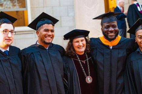 Nicole Farmer Hurd smiles with alumni