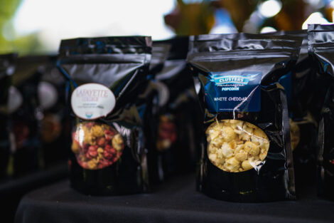 Custom Lafayette College popcorn.