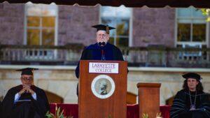 David Ellis, president emeritus of Lafayette College, provided greetings on behalf of presidents emeriti
