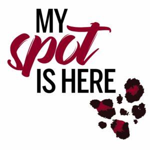 My Spot is Here logo with leopard spots