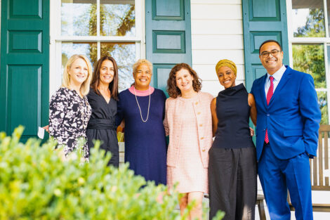 Hurd with close friends and family at the president's residence