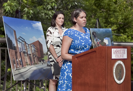 ahart family arts plaza dedicated during reunion weekend news lafayette college. Black Bedroom Furniture Sets. Home Design Ideas